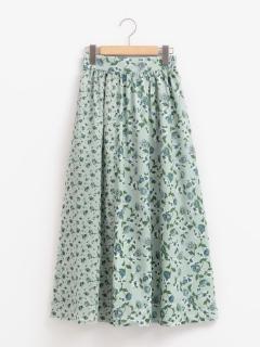 花柄切り替えスカート