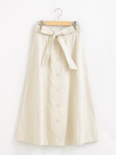ウエストリボンAラインスカート