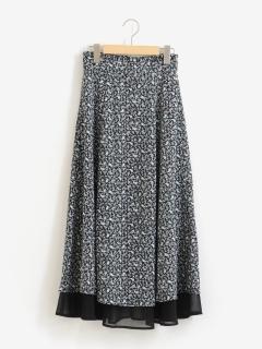 ペイズリー柄2枚重ねスカート