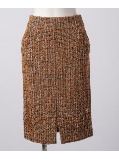 causseツイードタイトスカート