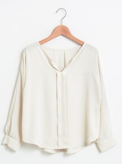 le. coeur blanc (ルクールブラン) ベネシャンフロントタックドルマンブラウス オフ