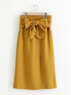 ウエストリボントラペラーズスカート