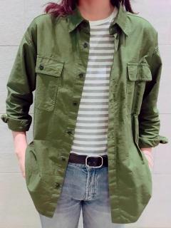 モールススキンミリタリービッグシャツ