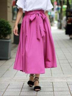 ウェストリボンモダールラップスカート