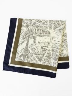 MAP柄スカーフ
