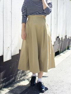 サイドギャザーフレアスカート