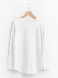 ラウンドヘムロングTシャツ