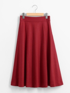ウール混テンジクフレアスカート