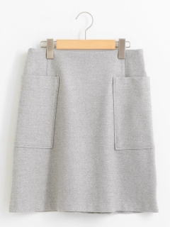 ツイードライクトラペーズスカート