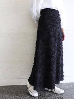 カットジャガードAラインロングスカート
