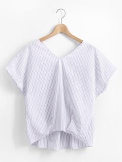 バックツイストストライプシャツ