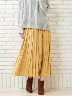 ビンテージサテンプリーツロングスカート