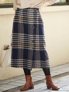 レトロチェックカルゼタイトスカート