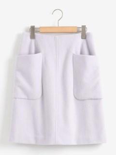 ウールトラペーズスカート