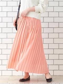 サイドプリーツマキシスカート