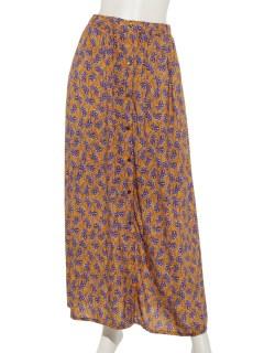 Deveauxキカフラワープリントロングスカート