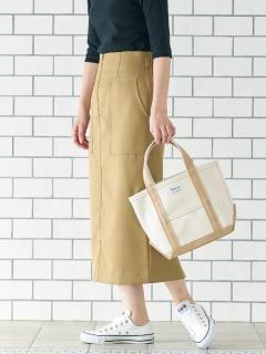 フロントジップハイウエストタイトスカート