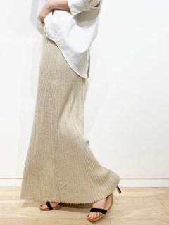 ラメリブロングスカート