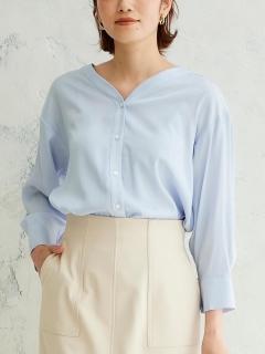 キュプラライクVネックシャツ