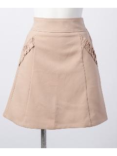 ポケットフリルAラインスカート
