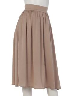 Tサテンギャザースカート