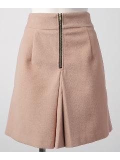 TフロントZIP台形スカート