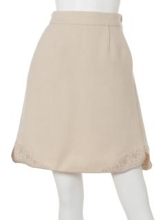 サイドスリット裾刺繍ミニスカート