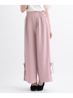 E裾編み上げワイドパンツ