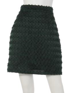 幾何学レーススカート