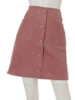 コーデュロイ台形ミニスカート