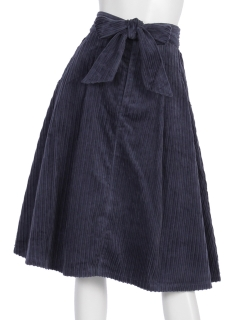 コーデュロイバックリボンスカート