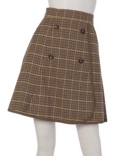 チェック巻き風スカート