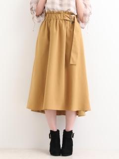 サイドベルトフレアスカート