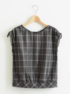 ドロストリボンシャツ