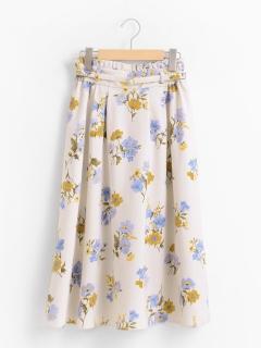 ミドルフラワースカート