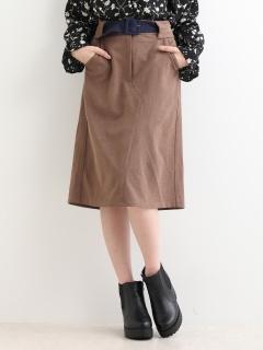 カラーベルトIラインスカート