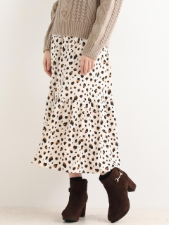裾ギャザーロングスカート