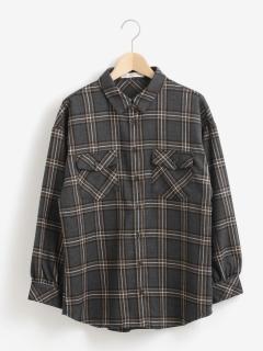 ルーズチェックシャツ