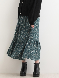 ミニフラワーロングスカート