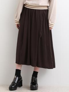 ベルト付ギャザーマキシスカート