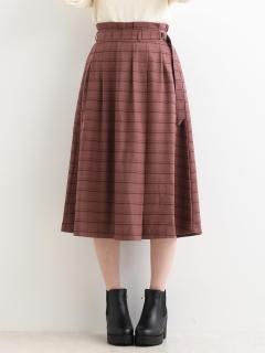 ラップ細ベルトスカート