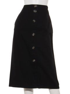 フロント釦バックジップタイトスカート
