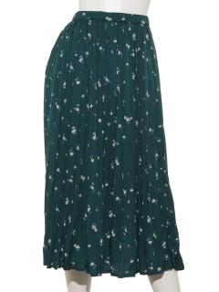 花柄ハンドプリーツスカート