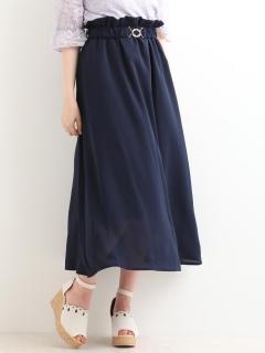レトロゴムベルト付スカート