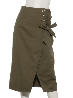 サイド編上げタイトスカート