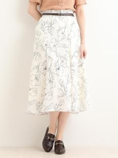 ワントーンフラワースカート♪