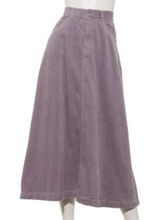 コーデュロイロングフレアスカート