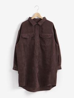 細コールBIGシャツ