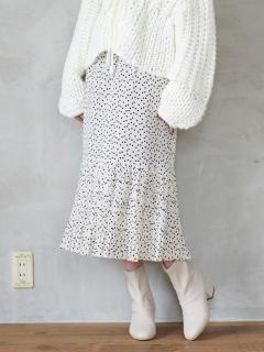 アソート柄裾プリーツスカート