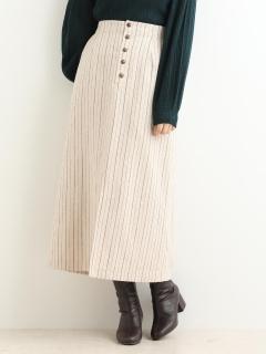 フロントボタンマキシスカート